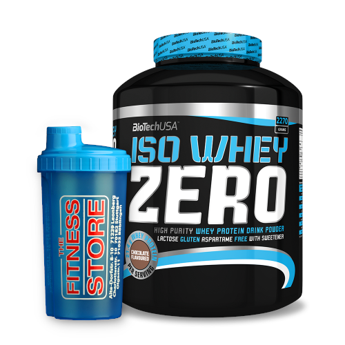 BioTech USA ISO Whey ZERO 2270g + The Fitness Store Shaker 750ml